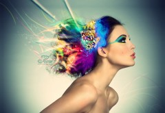 Симпатичная девушка со стильным макияжем
