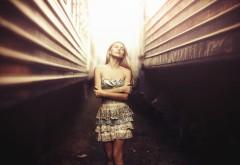 Фото, Karen Abramyan, девушка, вагоны, поезда, боке