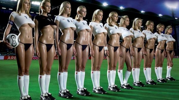 1920x1200,  Девушки футбол фото