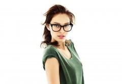 1920x1080, Девушка брюнетка в очках