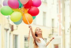 Download Blonde Smile Balloons Desktop Backgrounds