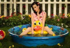 Katy Perry yellow duck wallpapers high resolution hd