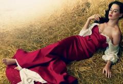 Кэти Перри в красном платье на сеновале картинки на ко�…