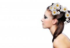Девушка с цветами в голове картинки на рабочий стол