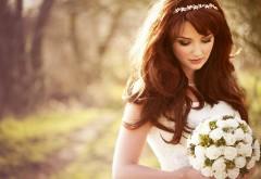 Невеста платье девушки букет роз заставки на рабочий с…