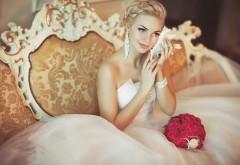 Девушка в свадебном платье заставки на рабочий стол hd