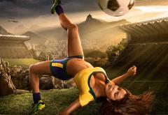 Горячая футболистка девушка спортсменка заставки