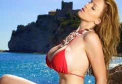 Красивая большая грудь на лазурном берегу картинки