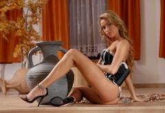 Девушка сексуальная в карсете обои широкоформатные