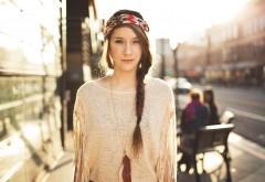 Макро фото девушка в городе красивые обои на комп