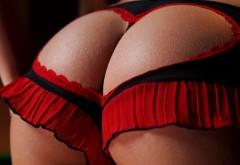 Красивая попка в красном картинки для рабочего стола с…