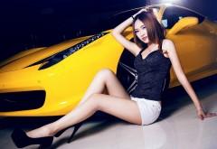 Картинки девушка и автомобиль суперкар ferrari 458 hd беспла…
