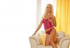 Заставки девушки блондинки в розовом карсете со строй�…