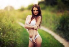 Девушка, брюнетка, модель, фото, Karen Abramyan, бельё, трусики…