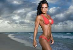 Vanessa Tib Фитнес-бикини, девушка на пляже