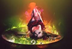 Огненная женщина на блюдечке