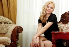 элегантная блондинка девушка